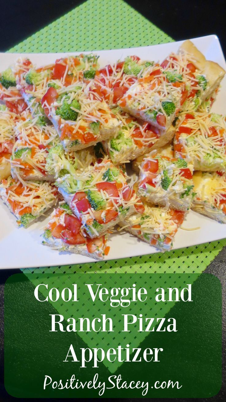Photo of Cool Veggie and Ranch Pizza Appetizer #SundaySupper – Positively Stacey