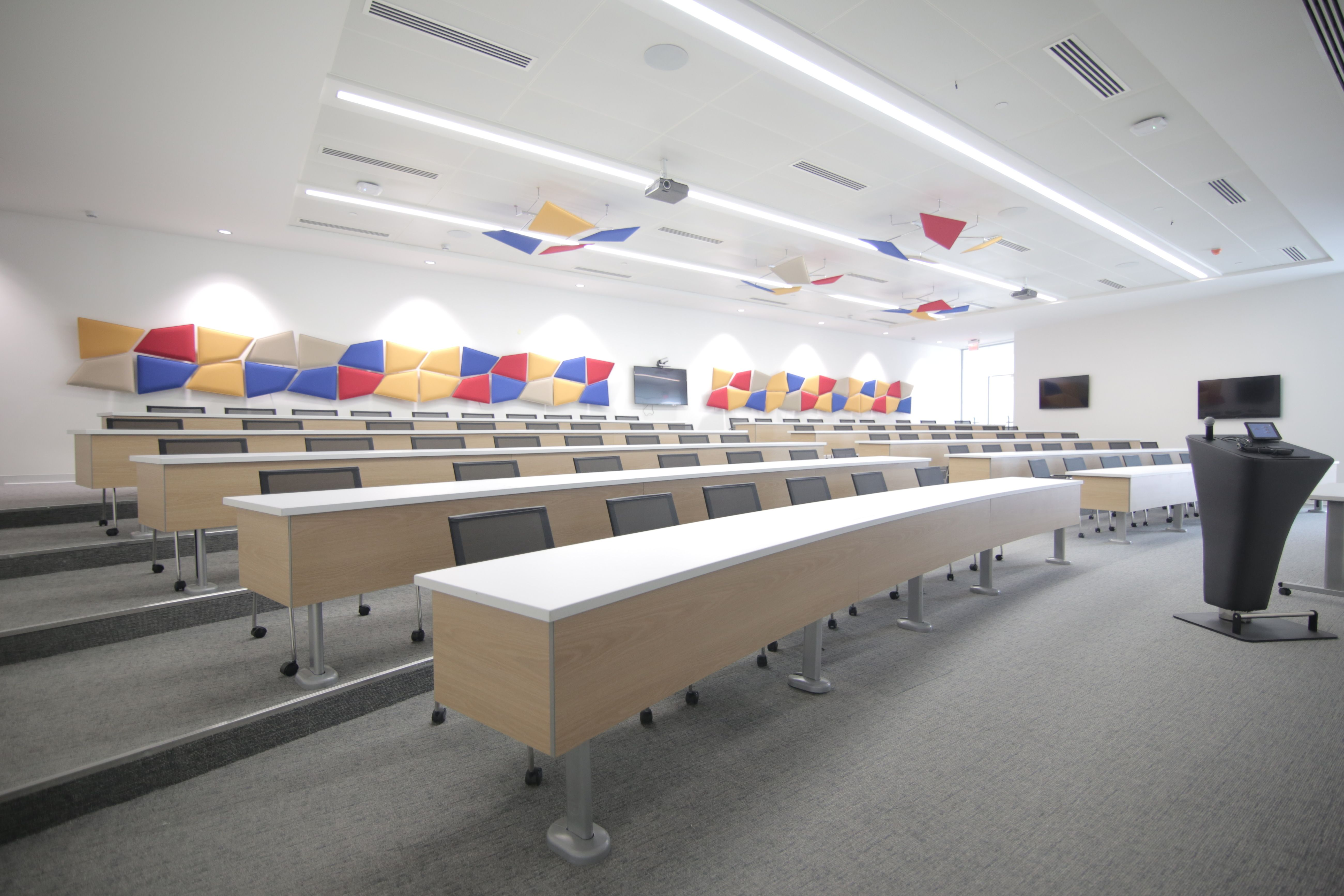 Sedie Auditorium ~ Fresh install! sedia systems m50 fixed tables x babson college