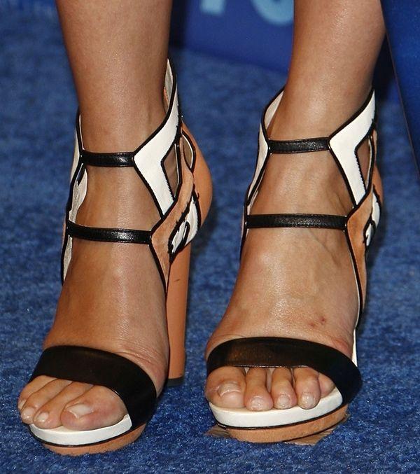 Cameron Diaz in Burak Uyan Color Block Sandals at Teen