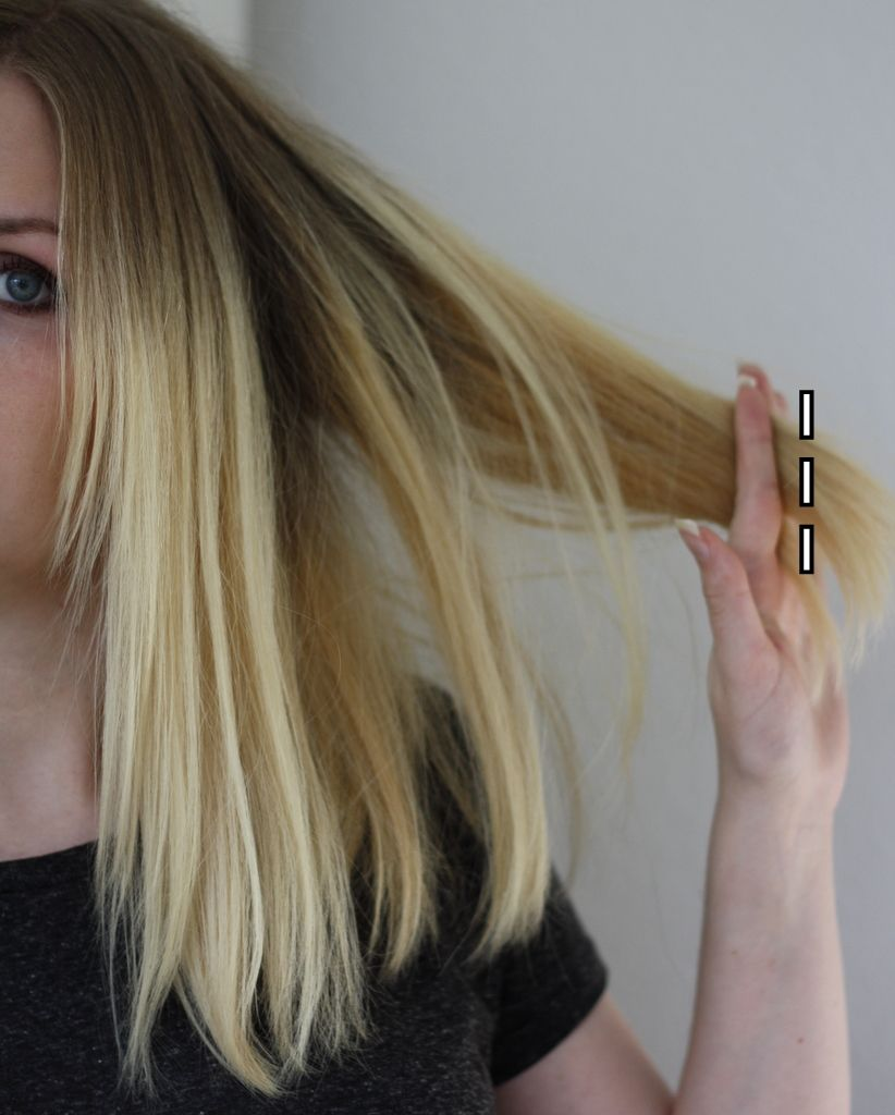 lange haare selber schneiden gerade