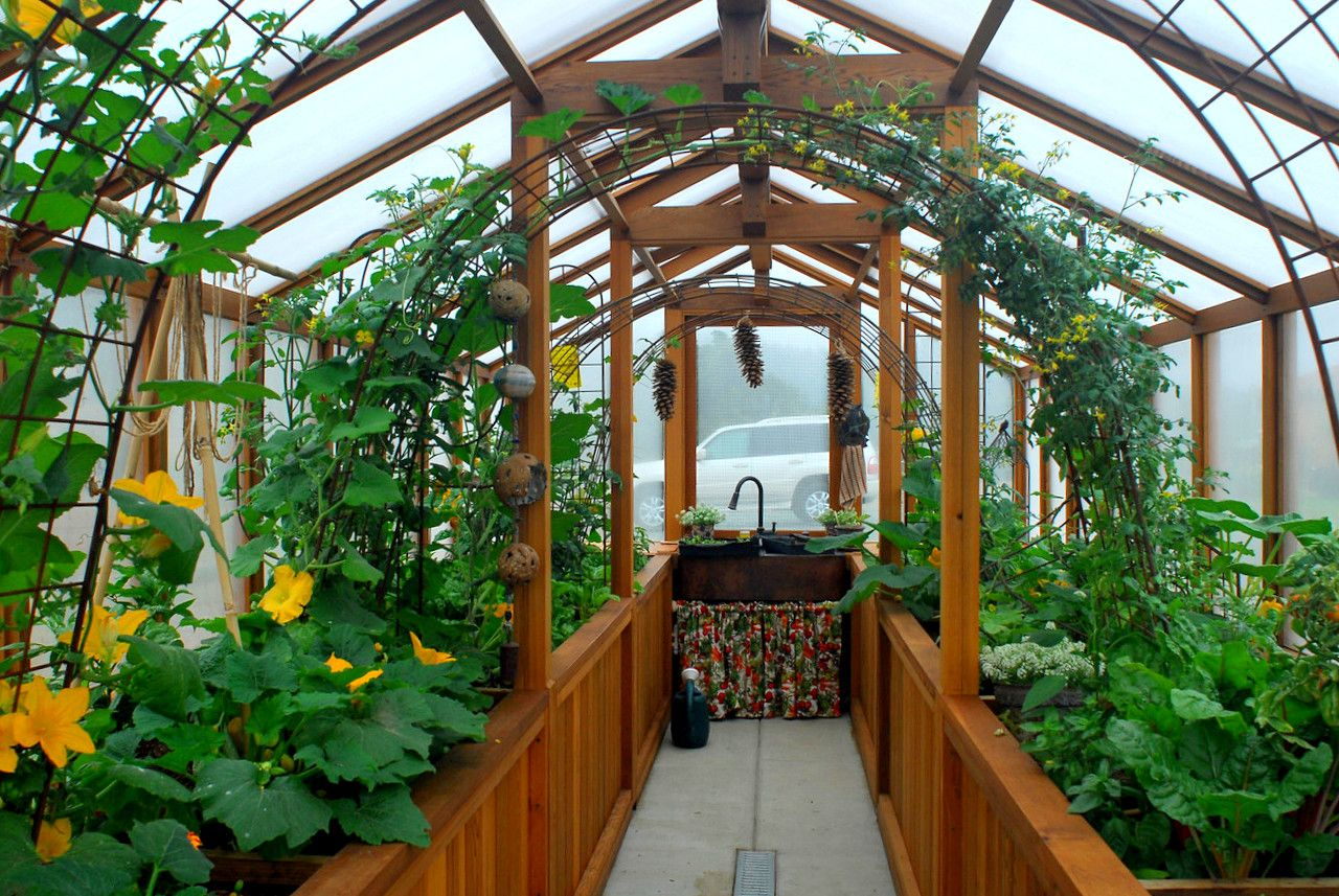 Cedar Built Greenhouses  Cedar Greenhouse Benches