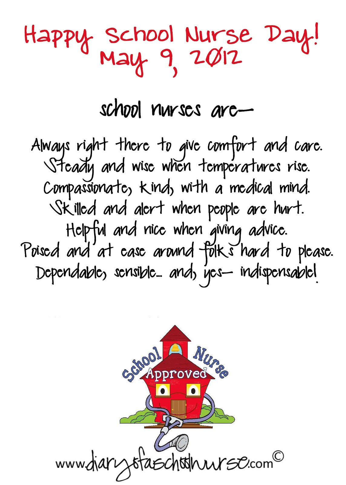 diary of a school nurse blog.school nurse and school