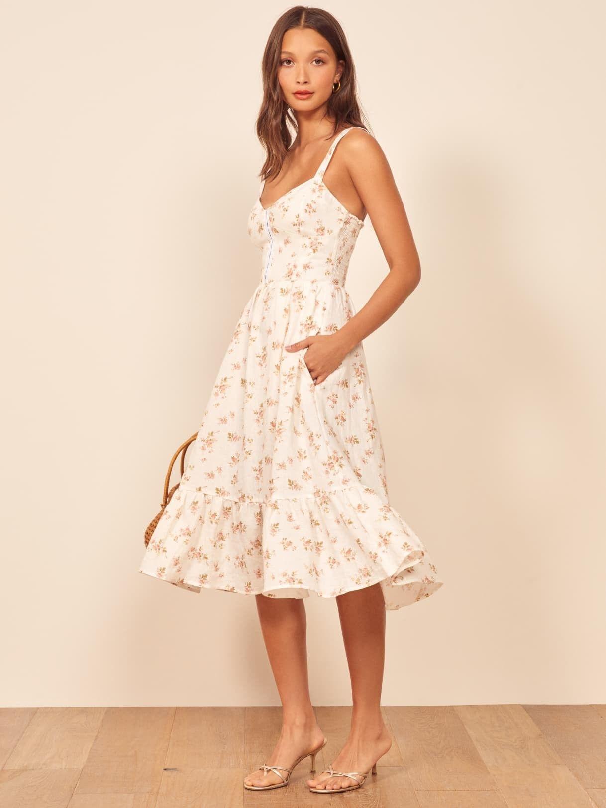 Italian Summer Dress Dresses Midi Length Dress Tori Dress [ 1624 x 1218 Pixel ]