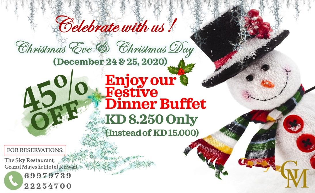1 Day To Go Celebrate With Us Christmas Buffet Festive Dinner Majestic Hotel