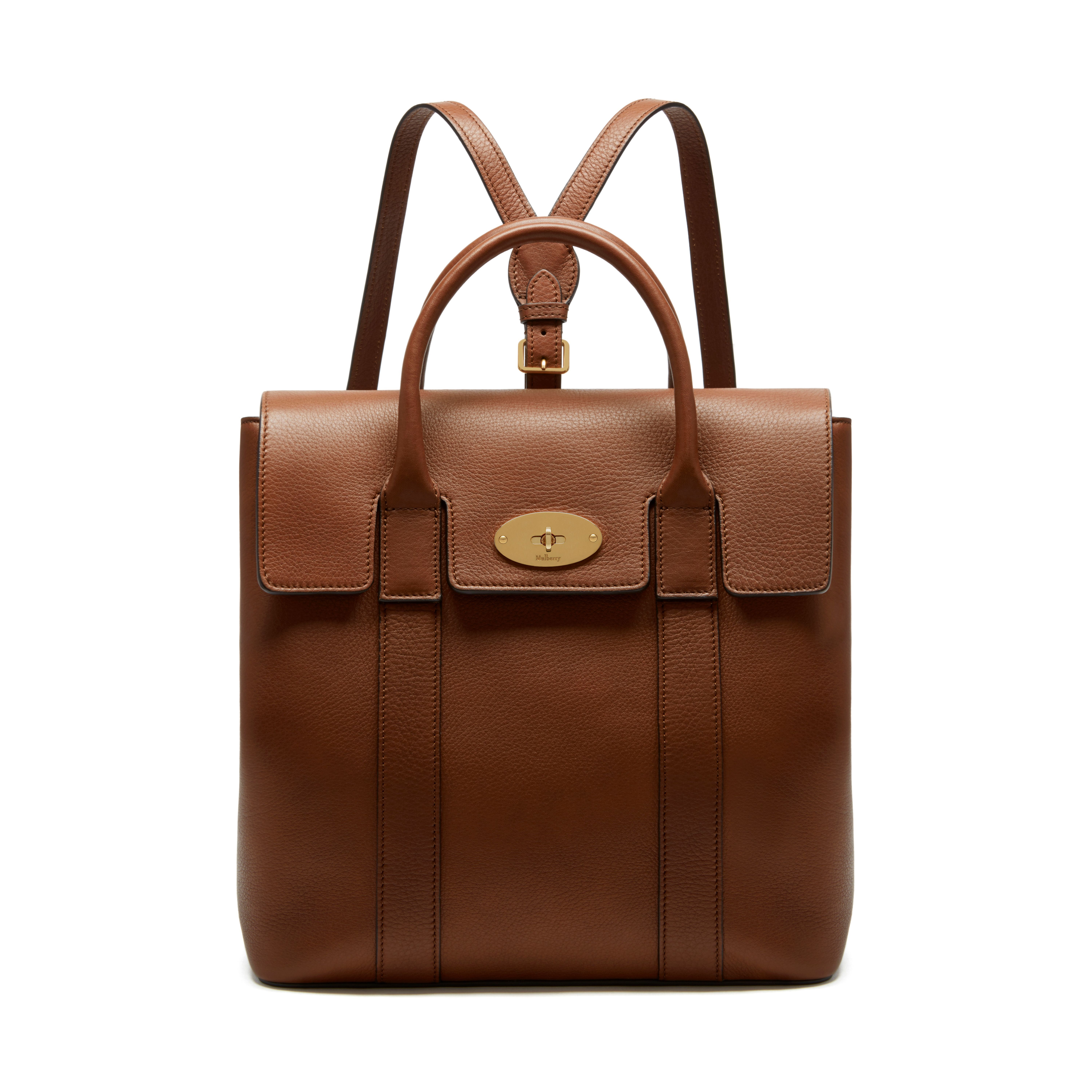 f5b233a3c989 Mulberry - Bayswater Backpack in Oak Small Classic Grain