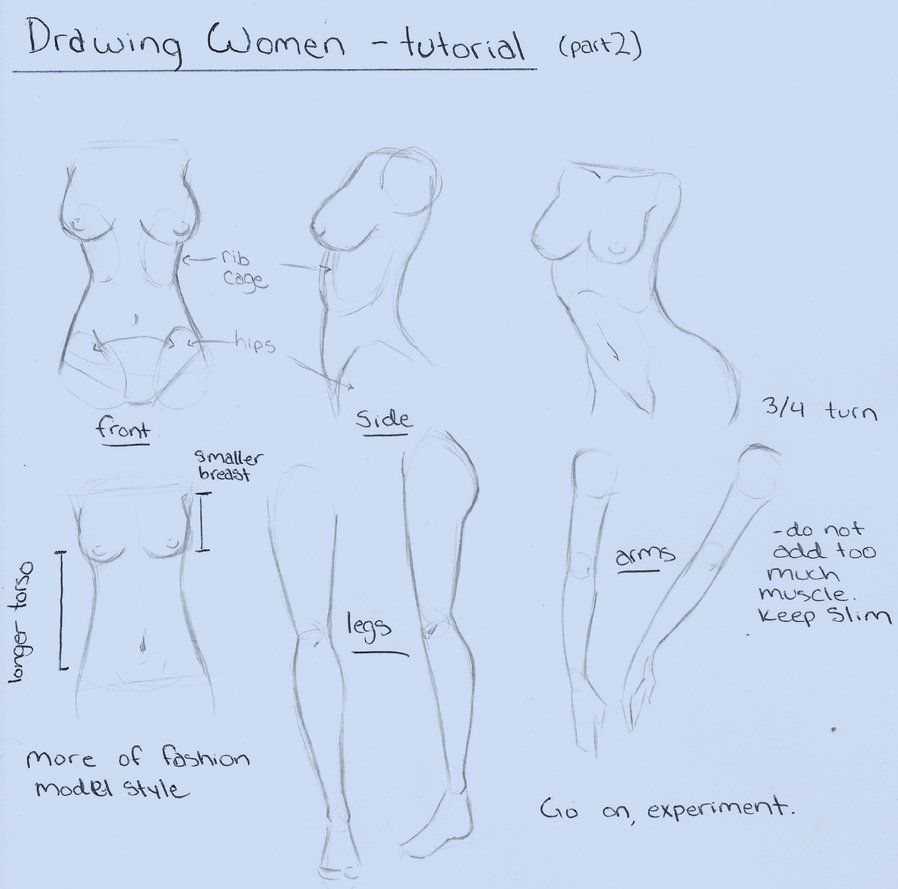 Drawing Women - tutorial (part 2) by Aku-X-Fox on DeviantArt