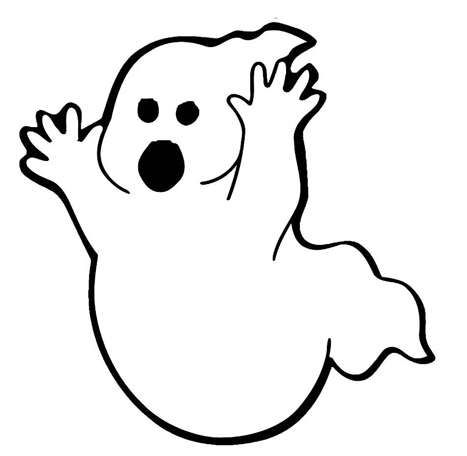 Printable Ghost Coloring Pages Coloring Me Free Halloween