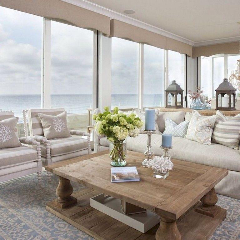 75 Warm Coastal Living Room Decorating, Coastal Living Room Decorating Ideas