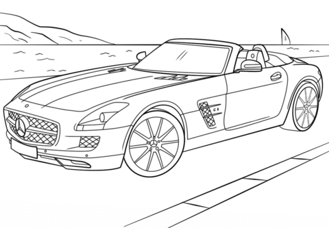 Ausmalbilder Autos Mercedes Sls Mercedes Sls Ausmalen Cars Ausmalbilder Mercedes Sls