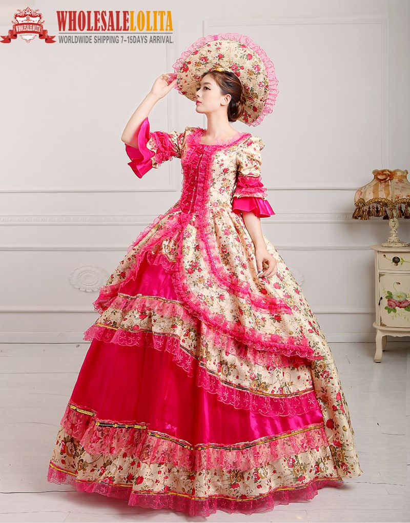Royal Rococo Gowns Dress Marie Antoinette Party gowns Costume Play ...