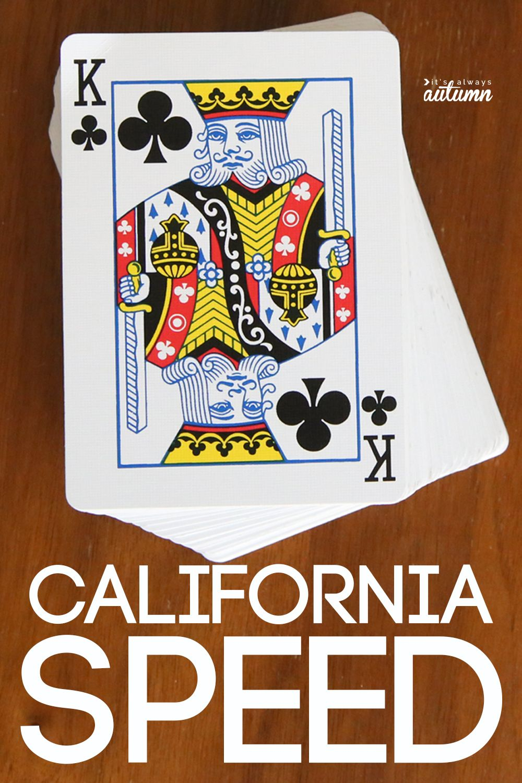 how to play California Speed Fun card games, Card games