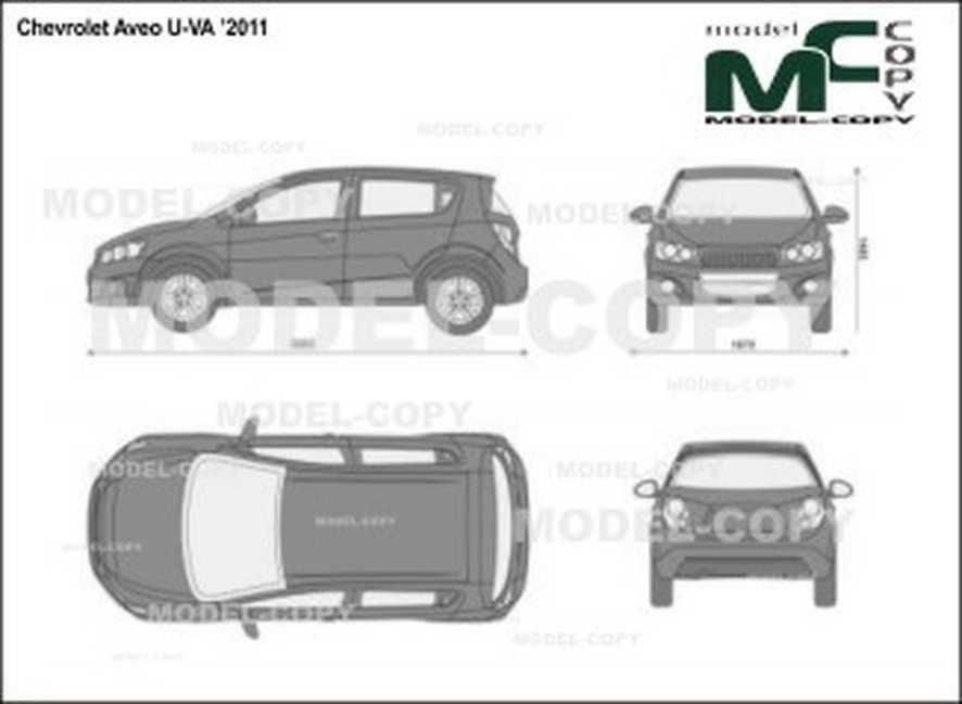 Chevrolet Aveo U Va 2011 2d Drawing Blueprints Model Copy