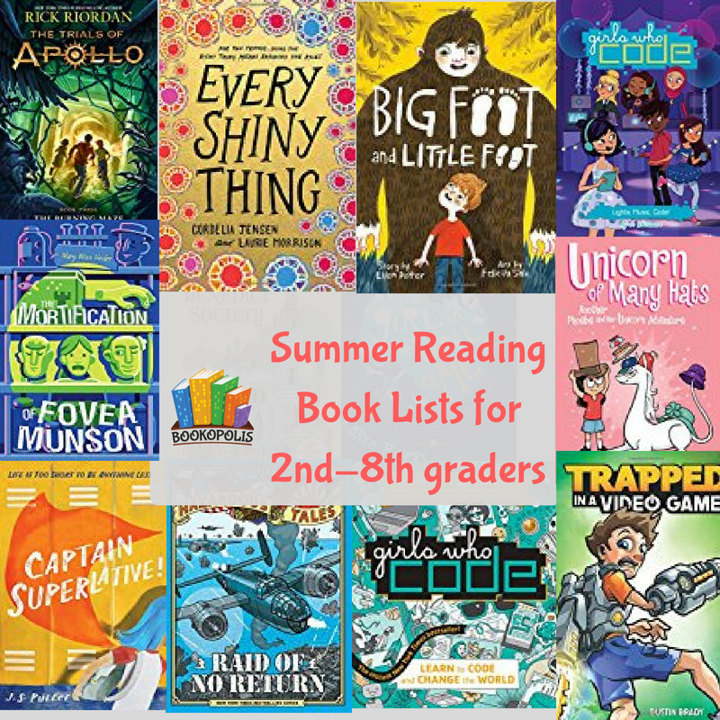 Summer Reading Book Recommendations For 2nd 8th Graders Summer