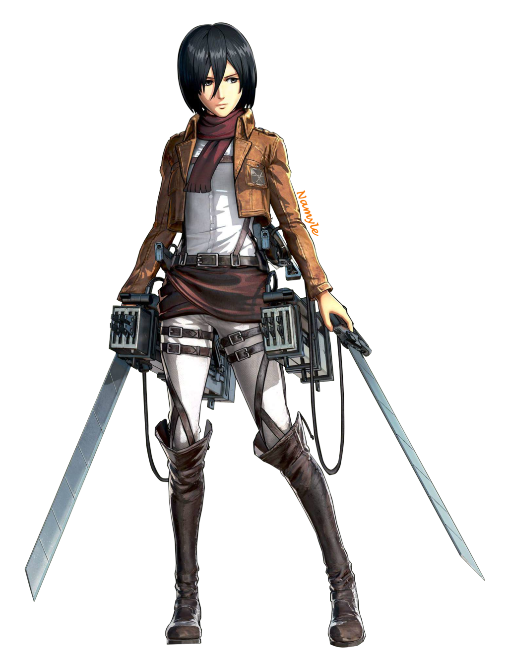 Mikasa Ackerman (Render) by Namyle Attack on titan anime