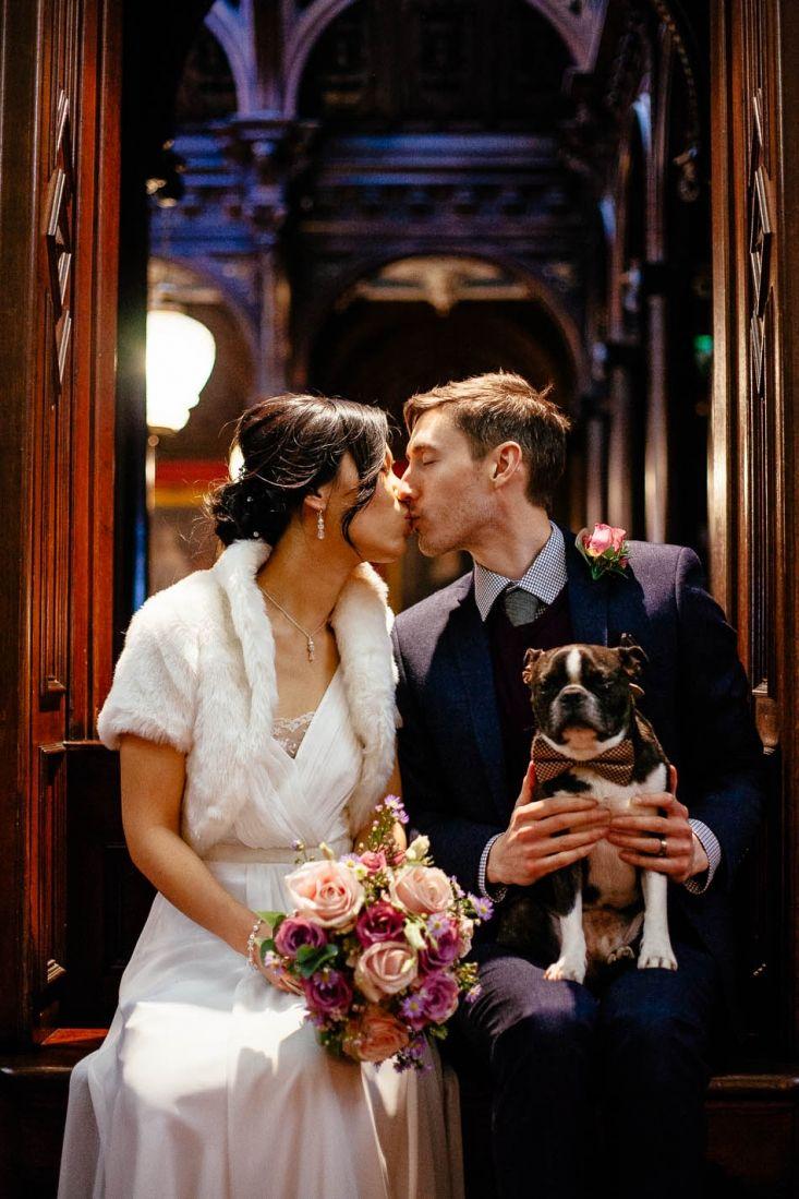 Levi the dog with ka man u simon marrying my best friend