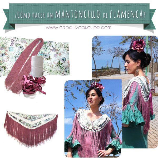 Mantoncillo De Flamenca Diy Tutorial Para Hacerlo Tu Misma Elaboración De Ropa Vestidos De Flamenca Vestidos De Sevillanas