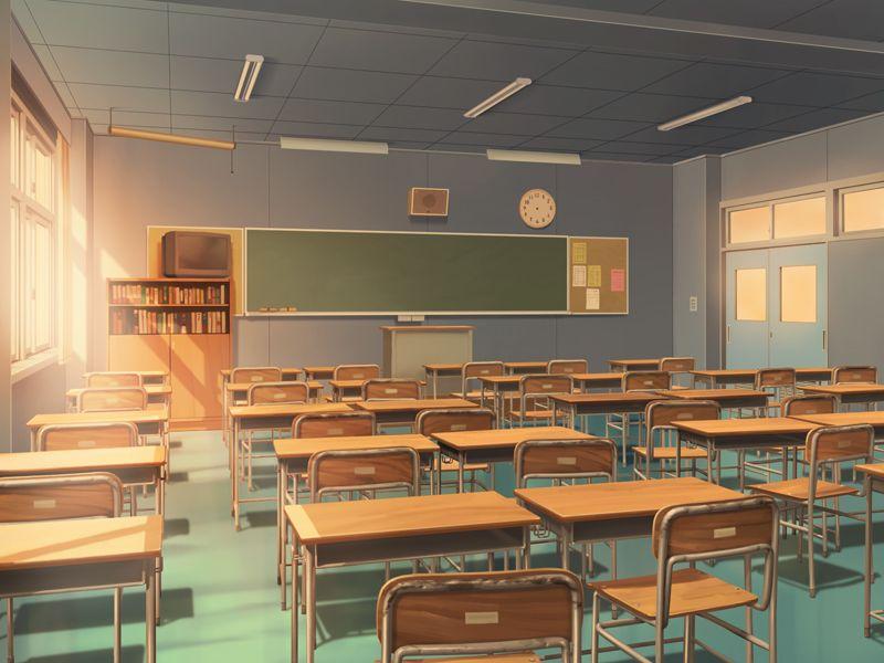 フリー素材 背景 学校教室(窓側) [2] | フリー素材 背景, イラスト 学校, 学校 イラスト