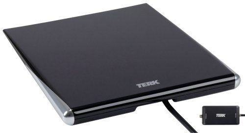Terk FDTV2A Omni-Directional Amplified Flat Digital HDTV Antenna-Black by  Terk. $56.25. From the Manufacturer … | Hdtv antenna, Digital hdtv antenna,  Hdtv