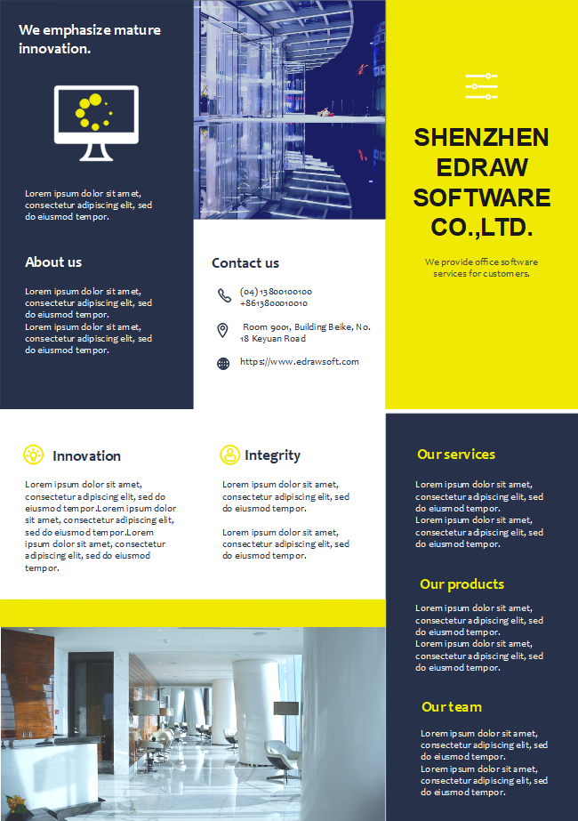 Designing A Company Brochure Is No Longer Difficult If You Start With A Good Template The Company Profile Brochure Brochure Template Brochure Company Profile