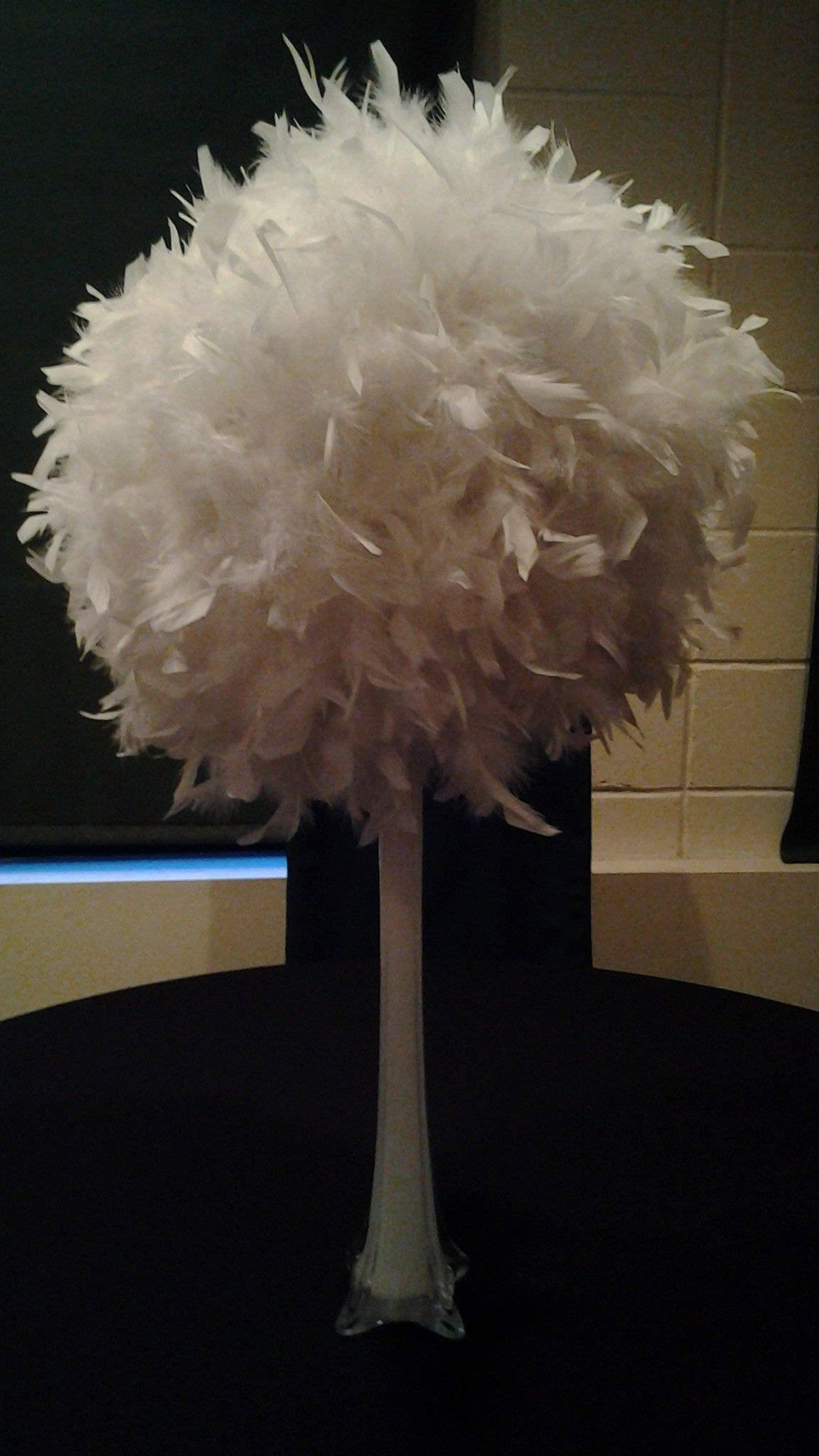 Less Expensive Alternative To Ostrich White Feather 18 Diameter Chandelle