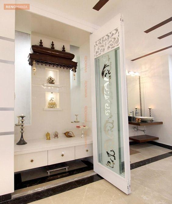 Marble Flooring in Pujaroom | Pooja decoration | Pinterest | Marble ...