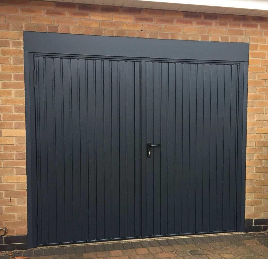 Garador Carlton Side Hinge Door Anthracite Grey Garage Doors