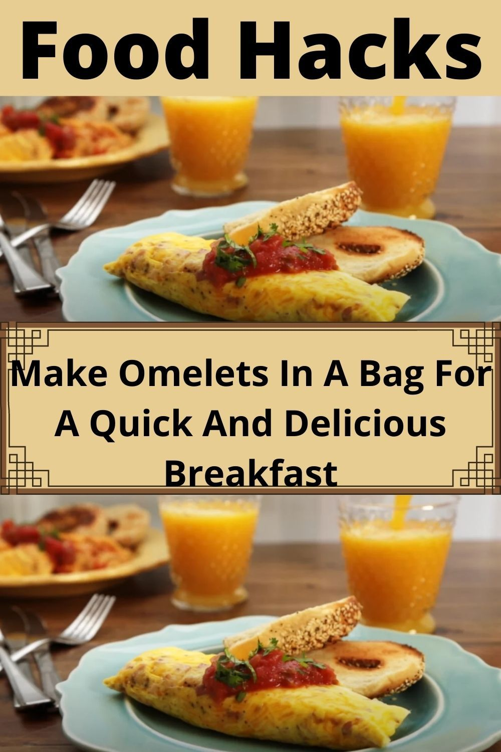Make Omelets In A Bag For A Quick And Delicious Breakfast Food Hacks Life Hacks Food Food