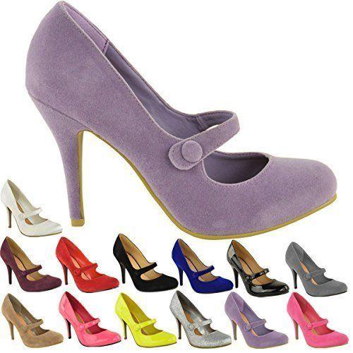 Fashion Thirsty - Escarpins Femme Bas Moyen Haut Talon Lanière Cheville: Amazon.fr: Chaussures et Sacs