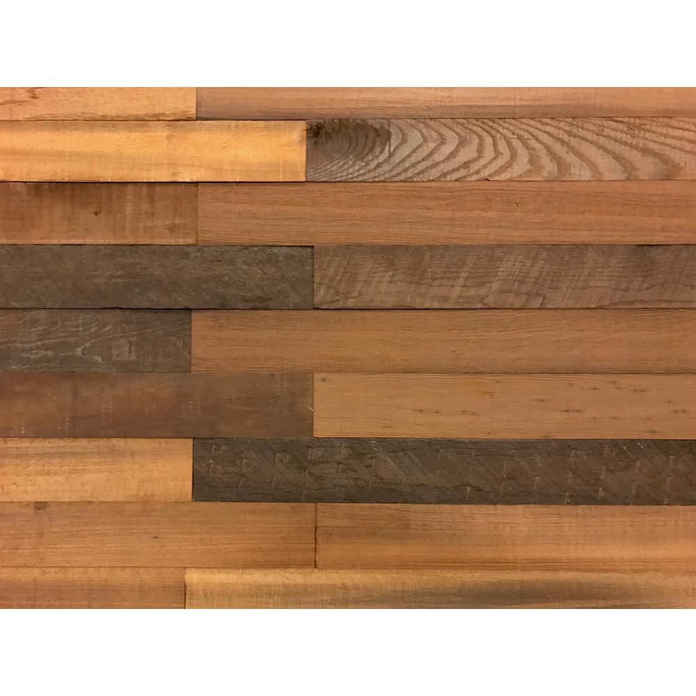 Easy Planking 1 4 In X 3 In X 2 Ft Brown Reclaimed Smart Paneling 3d Barn Wood Wall Plank Design 1 20 Case 11234 Barnwood Wall Wood Wood Panel Walls