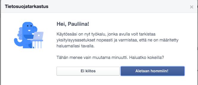 Pauliina Mäkelä: Facebookin tietosuojatarkastus | Kinda.fi