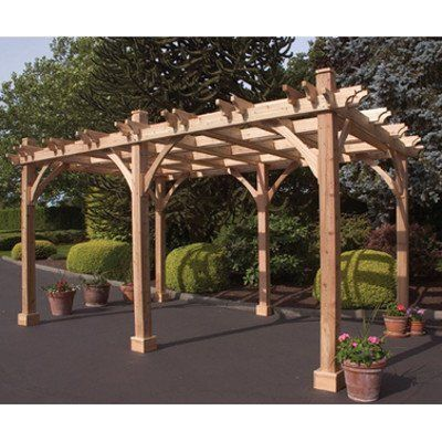 Outdoor Living Today Breeze Western Red Cedar 12 X 16 Pergola By Outdoor Living 4794 48 Natural Western Red Ced Outdoor Pergola Wood Pergola Pergola Patio