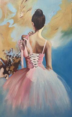 Pin By Sibel Kozan On Cuadros Para Pintar Ballerina Painting Dancers Art Ballet Painting