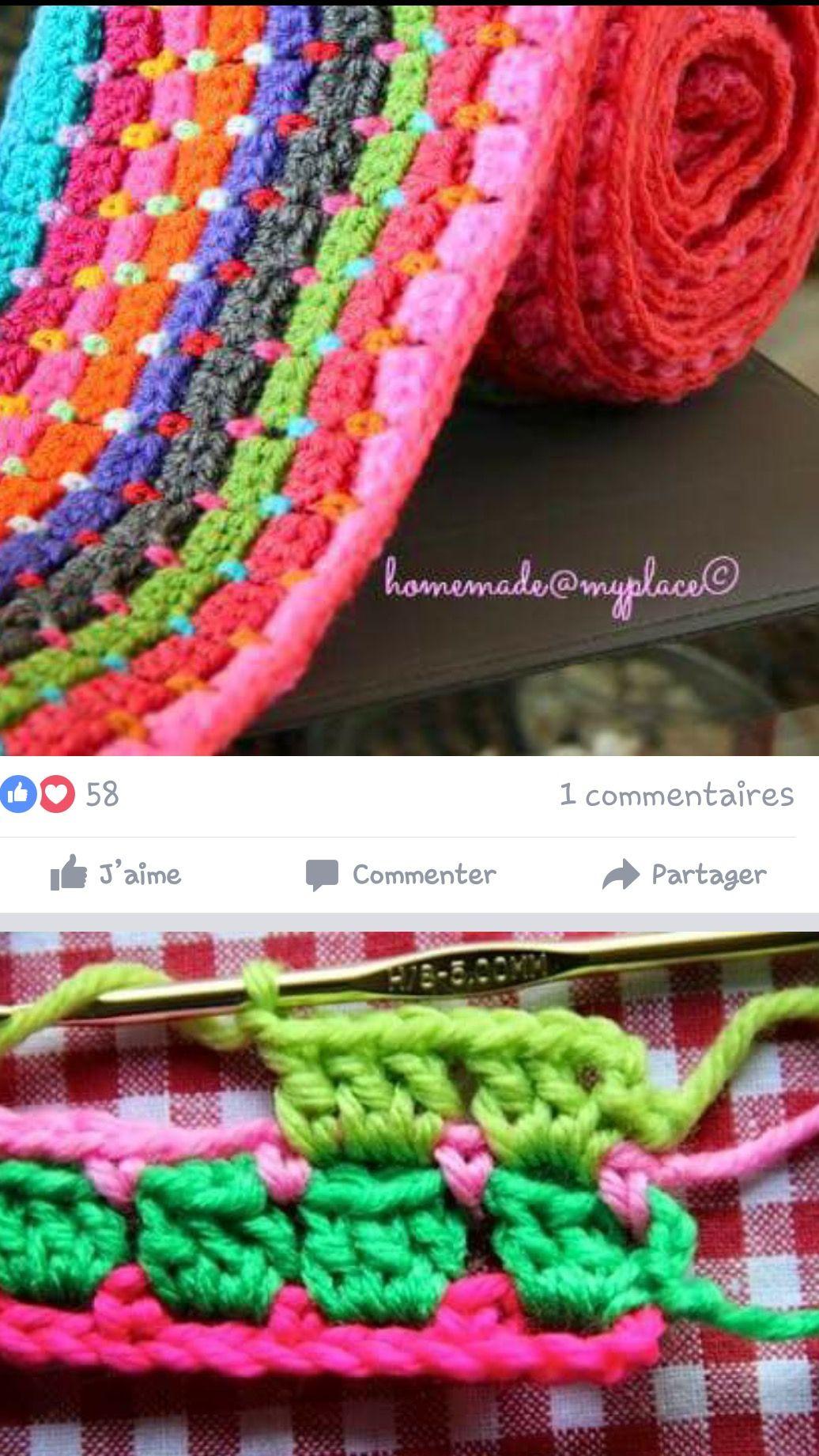 Pin de Myriam Fosserat en Crochet | Pinterest | Tejido, Cobija y ...
