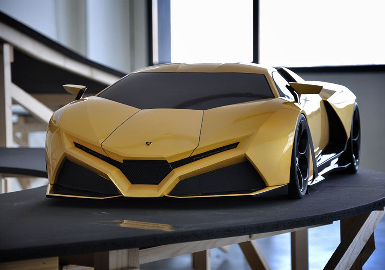 The Stunning Scale Model Of The Lamborghini Cnossus Concept Car.