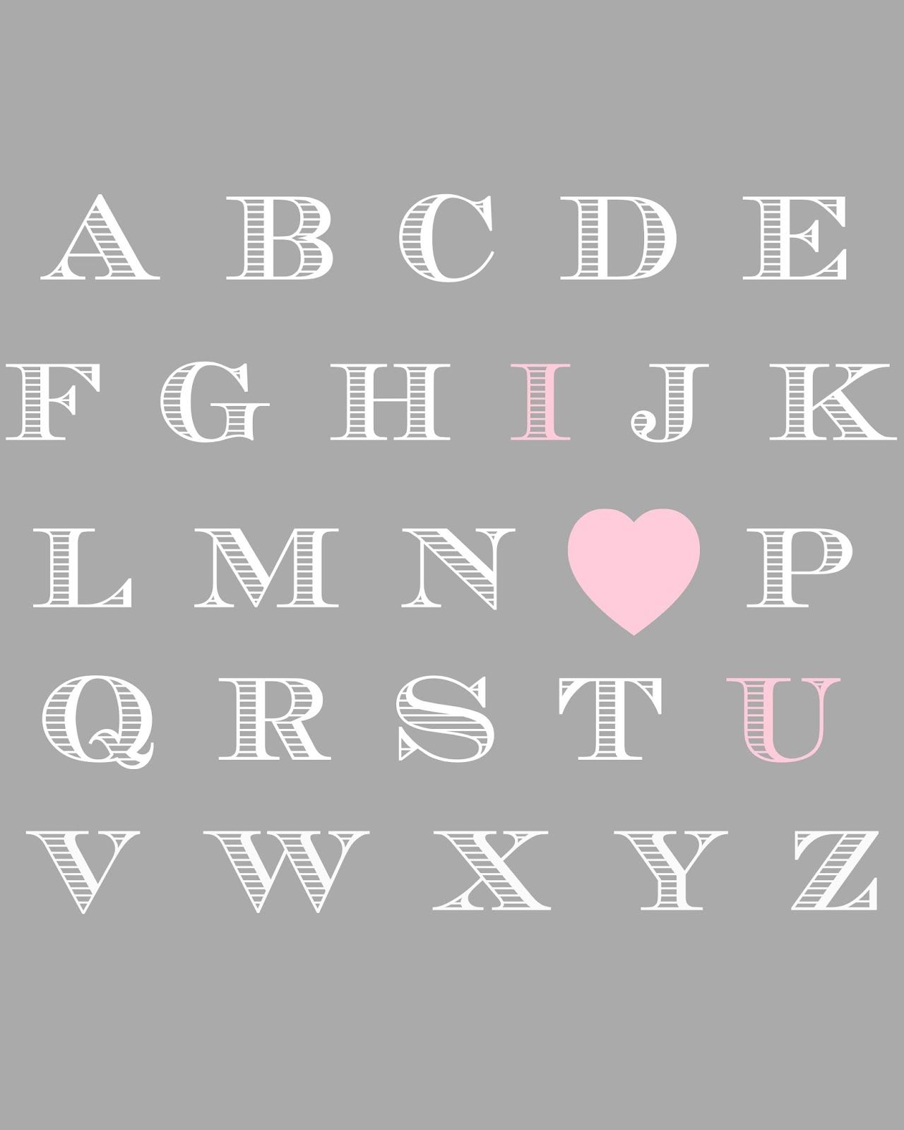 Baby Nursery Art Print Dog Abc Nursery Decor Alphabet Print: Baby Girl Nursery Printable. Pink And Grey Free Printable