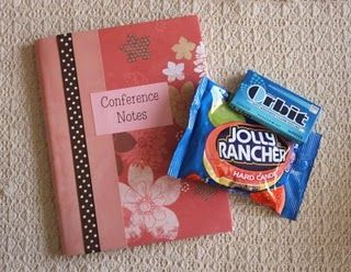 conference notebook.  This would be fun to make at an activity to help the young women prepare!