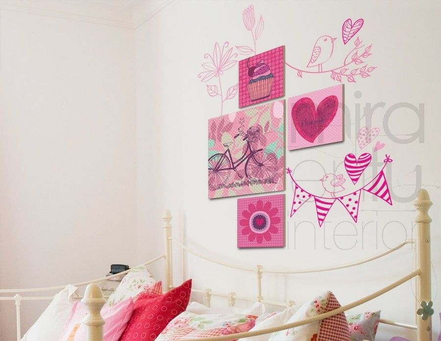 Cuadros pintura dibujo pinterest cuadros para - Vinilos para pared de dormitorio ...