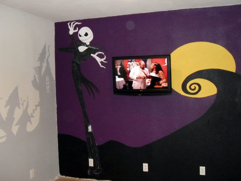 Nightmare Before Christmas Mural  Pick A Room  Pinterest  Jack Entrancing Nightmare Before Christmas Bedroom Decor Inspiration
