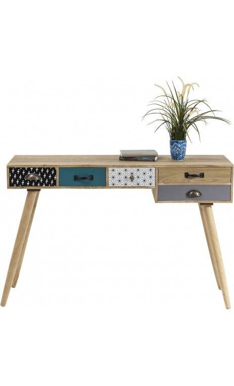 bureau au style scandinave en bois patchwork capri. Black Bedroom Furniture Sets. Home Design Ideas