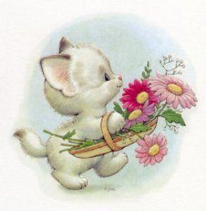 ❤️️Cute White Kitten ~ Artist Ruth Morehead