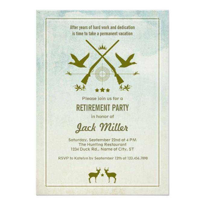Hunting Retirement Party Invitation Retirement parties - retirement invitation