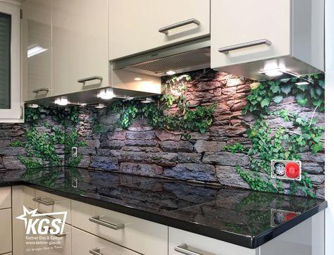 Küchenrückwand aus Glas mit Digitaldruck | küche | Pinterest