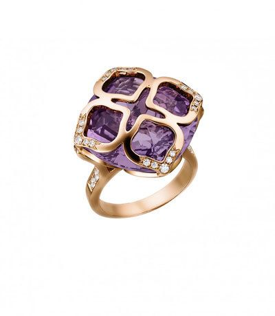 Chopard Imperiale Amethyst Ring with Diamonds, Size 55