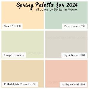 Spring Paint Colors 2014 paint color forecast -myperfectcolor blog. benjamin moore