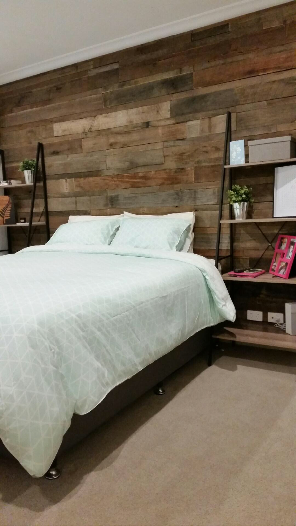 Timber Feature Wall Bedroom Pinteres