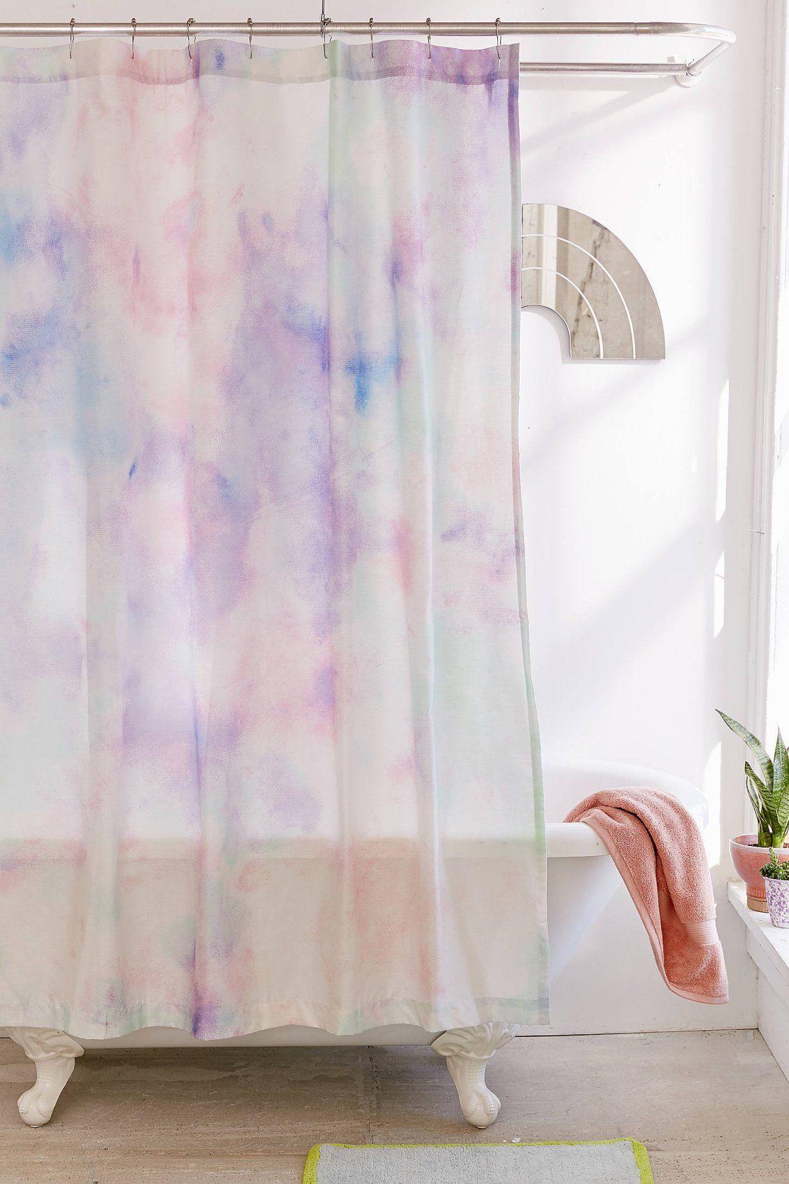 Rainbow Dye Shower Curtain