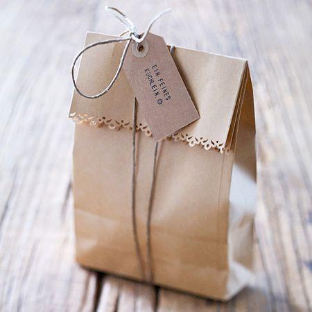 Geschenktüten basteln - so gehtu0027s Schritt für Schritt - bonboniere selber machen anleitung