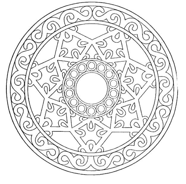 Узор в три круга | Геометрические фигуры, Раскраски ...