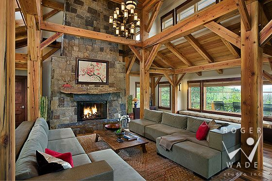 Rustic Living Room By Studio Sofield By Architectural: Roger Wade Studio Architectural Digest Photography Of