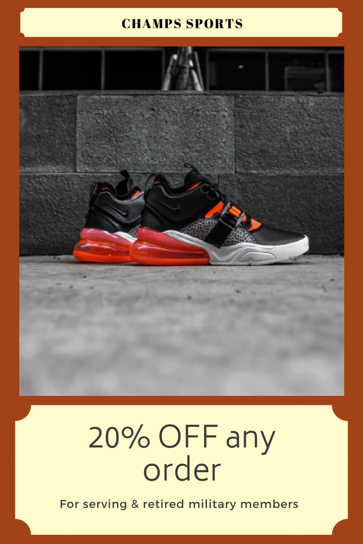 military discount to buy running shoes